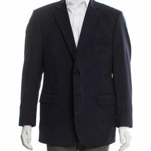Ermenegildo Zegna navy wool & silk blazer